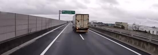 美しすぎる車線変更の動画